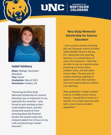 Meet the 2021 Nina Stulp Memorial Scholarship Recipients